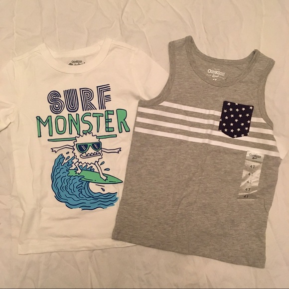 NWT! Lot of two summer shirts/tanks toddler boy